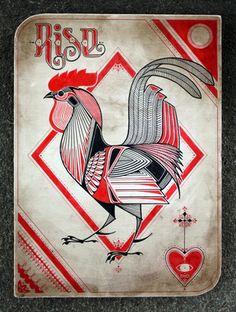 Rise   drawing by tattoo artist David Hale