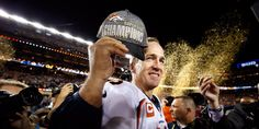 Peyton Manning made what could be a victorious farewell to the NFL after the Denver Broncos beat the Carolina Panthers to win Super Bowl 50 and give the legendary a second winner's ring in what is believed to be his final match before retirement. Broncos Win, Denver Broncos, Football Fans, Football Season, Super Bowl Wins, Peyton Manning, Carolina Panthers, Baseball, Nfl