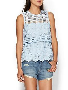 Saylor Isabella Tank | Piperlime. Hate those types of skanky shorts but ADORE the top!!