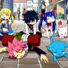 I would be Natsu in this picture...