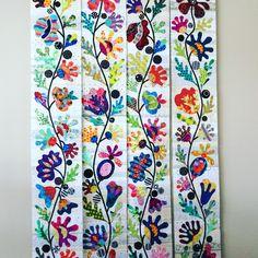 Flower Garden quilt, border sections.  (Laila Nelson)