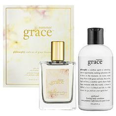 Philosophy Summer Grace Set. Just like the body wash I already pinned, these smell great! I will be wearing this scent all summer long!