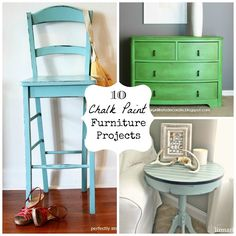 10 Chalk Paint Furniture Projects #anniesloan