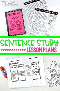 Sentence study and grammar lesson plans and activities for Kindergarten, 1st, and 2nd grade. Just 10 minutes a day of practicing conventions of print and grammar. #sentencestudy #grammar #engagingreaders