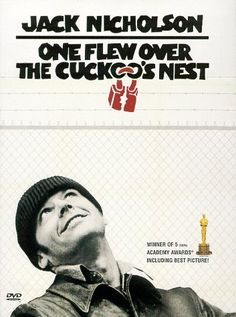 One Flew Over the Cuckoo's Nest is a 1975 drama film directed by Miloš Forman and based on the 1962 novel One Flew Over the Cuckoo's Nest by Ken Kesey. The film stars Jack Nicholson and Louise Fletcher, with William Redfield, and introducing Brad Dourif. Film Movie, See Movie, Movie List, Crazy Movie, Jack Nicholson, Old Movies, Great Movies, Plane Movies, Movie Posters