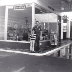 Father and Son Chandler Arizona ~ 1957