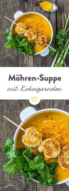 Diese Suppe wärmt den Magen und die Sinne. Der exotische Duft von Zitronengras und Kokos wird deine Küche erfüllen und hungrige Mäuler an den Tisch locken.