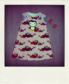 Octonauts dress. More pics at: http://kolttu.blogspot.fi/2014/05/peso-in-pink.html