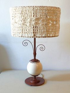 pantallas de lamparas tejidas a crochet - Buscar con Google