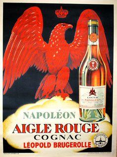 """""""Aigle Rouge Cognac"""" - 1910"""