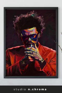 The Weeknd After Hours Hand Painted Giclee Print The Weeknd Poster, Best Naruto Wallpapers, Celebrity Drawings, Aesthetic Painting, Hippie Art, Digital Art Girl, Diy Canvas Art, Wall Art Prints, Pop Art