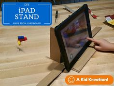 Cardboard IPad Stand for Stop Motion Videos : 3 Steps - Instructables Motion Video, Stop Motion, Diy Ipad Stand, Diy Tripod, Ipad Hacks, Robot Technology, Technology Integration, Iphones For Sale, Found Object Art