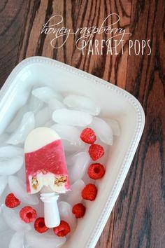 honey raspberry parfait pops www.spaceshipsandlaserbeams.com