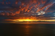 Ocean sunset by Greet V. Ocean Sunset, Beautiful World, Sunsets, Celestial, Beach, Outdoor, The Beach, Seaside, The Great Outdoors