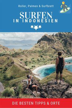 Was für eine Indonesien Reise! Roller, Palmen und Surfbrett unterm Arm. Durch Indonesien reisen immer auf der Suche nach den besten Surf Spots in Indonesien. Klingt nach einem richtigen Surfer Traum? Dann bekommst du hier die besten Tipps und Spots für deinen Indonesien Surfen Trip. #indonesiensurfen #indonesienbackpacking #surfenlernen #surfenasien #surfenwellen