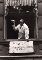 "Aaron Siskind Am. 1903-1991 ""Harlem Document Pieman 1935"""