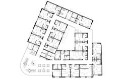 Gallery for assisted living facilities floor plans one for Arquitectura geriatrica