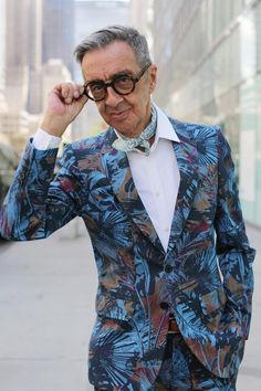"""ADVANCED STYLE:  """"I like clothes with structure because there is an old man underneath here."""" -Robert W. Richards, Illustrator"""