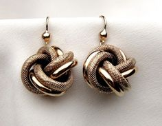 European Collection: Victorian 9KT Love Knot Earrings   Isadora's