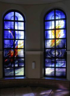 Blue Stained Glass windows - Lintz Cathedral - AUSTRIA