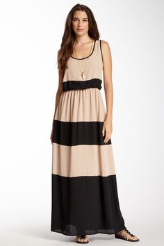 Everleigh Colorblock Scoop Maxi Dress by Assorted on @HauteLook