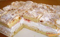 Mandlové šlehačkové řezy Y Recipe, Cake Bars, Pavlova, Food Dishes, Vanilla Cake, Nutella, Sweet Recipes, Sweet Tooth, Bakery
