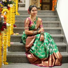 "b1f6b1c416472b Shruti Madadi on Instagram  ""Throwback to my bridal shower P.C. -   abhinavsagar  tbt  iwearhandloom  kanjivaramsaree  indianbride"""