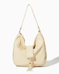 Whipstitch Tassel Hobo | Fashion Handbags & Purses | charming charlie