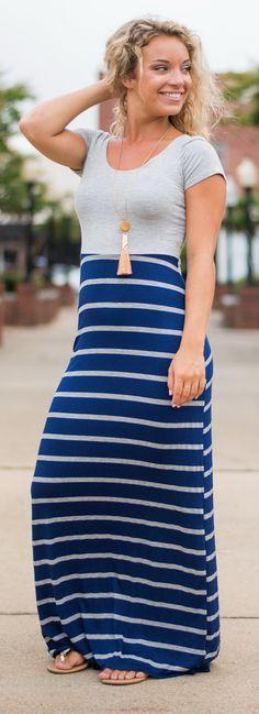 Different Stripes Of Love Maxi Dress