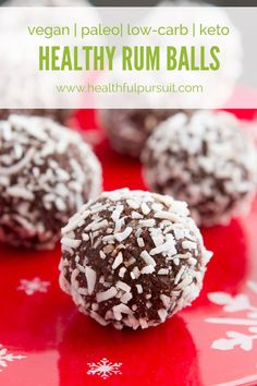 Healthy Christmas Rum Balls #vegan #paleo #dairyfree #lowcarb #keto