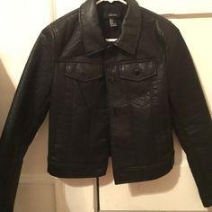 Boxy motor style faux leather jacket Super edgy Moto-style faux leather jacket with front and side pockets. NWOT Forever 21 Jackets & Coats