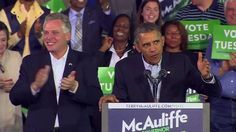 Obama stumps for Terry McAuliffe, Virginia's next governor…