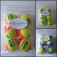 Texas Toss Ball Kit - Tennis Ball Throwing Ropes / Bolas. Works with homemade Ladder Golf / Ladder Toss / Hillbilly Golf sets too!
