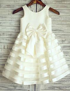 Robe de Demoiselle d'Honneur Fille - Princesse Longueur genou Sans manches…
