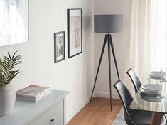 Grande lampe grise 156 cm STILETTO Neutral Color Scheme, Colour Schemes, Gris Taupe, Grande Lampe, Urban Setting, Estilo Boho, Tripod Lamp, Floating Nightstand, Floor Lamp