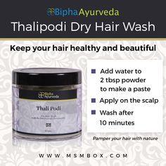 Bipha Ayurveda Thalipodi Dry Hair Wash Keep your hair healthy and beautiful