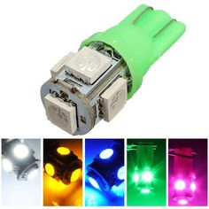T10 194 168 2825 5SMD 5050 LED Green Super Bright Car Wedge Lamp Bulb  Worldwide delivery. Original best quality product for 70% of it's real price. Buying this product is extra profitable, because we have good production source. 1 day products dispatch from warehouse. Fast & reliable...
