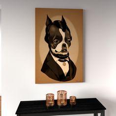 Porch & Den Brian Rubenacker 'Lincoln Sepia' Canvas Print Wall Art