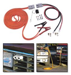 Jumper cables thies work great on tow truck to help customers