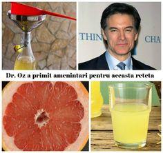 Un suc de slăbit din doar 3 ingrediente banale, inventat de celebrul Dr. Oz, a ajuns să fie motiv de amenințări. După ce dr. Mehmet Oz a făcut publică rețeta acestui suc miraculos, companiile farmaceutice l-au amenințat, pe motiv că le poate strica afacerile. Trăim într-o lume în care majoritatea oamenilor își doresc să slăbească. … Dr Oz, Grapefruit, Dr. Oz