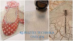 Repesztés üvegen egy- illetve kétfázisú repesztőlakkal. Most, hogy már tudjuk melyik repesztőt hogyan alkalmazzuk fára, megnézzük üveg felületen hogyan is alakul a műveletek sorrendje. Diy Magazin, Techno, Ballet Shoes, Decoupage, Stencils, Ballet Flats, Ballet Heels, Templates, Techno Music