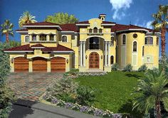 spanish houses | Spanish and Mediterranean House Plans – Planbooks for Spanish and
