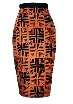 SKIRT MADE FROM AFRICAN FABRIC