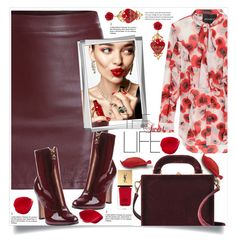 """Untitled #489"" by ljubacelo ❤ liked on Polyvore featuring Valentino, Bertoni, Yves Saint Laurent, KAROLINA, Nicholas and Dolce&Gabbana"