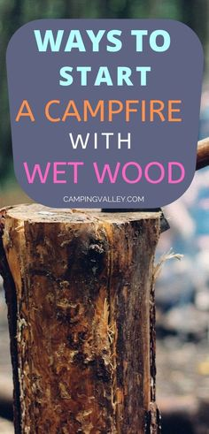 How to start a campfire with wet wood? When all is soaked with water you'll need to compromise. Check my tips and make a campfire without a hustle. Best Backpacking Tent, Rv Camping Tips, Camping For Beginners, Camping Cot, Camping Storage, Camping Packing, First Time Camping, Camping In The Rain, Camping Heater