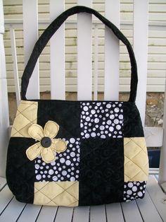 Black and cream bag.