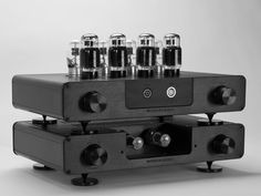 Electrostactic Heaphone Amplifier - Black WES with Treasure 6CA7, Sophia 6SL7, and 5AR4 Tubes !...  http://about.me/Samissomar