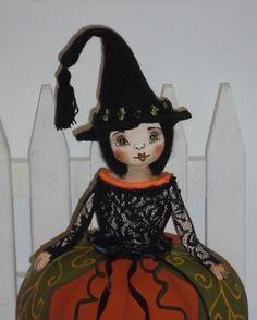 Ooak Halloween Folk Art