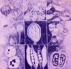 "Small things to remember.  ""Deur"" van de doos van Pandora. Ballpoint, door Tineke Hiem."