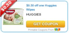 $0.50 off one Huggies Wipes